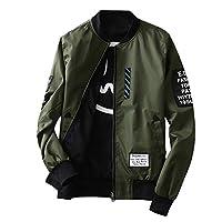 Bomber Jacket Fashion Men Jacket With Patches Both Side Wear Thin Bomber Jacket Flyer Overcoat Cloth Wind Breaker Jacket(green)