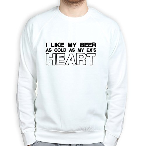 Cold Beer Ex's Heart Ale Funny Drinking Pullover