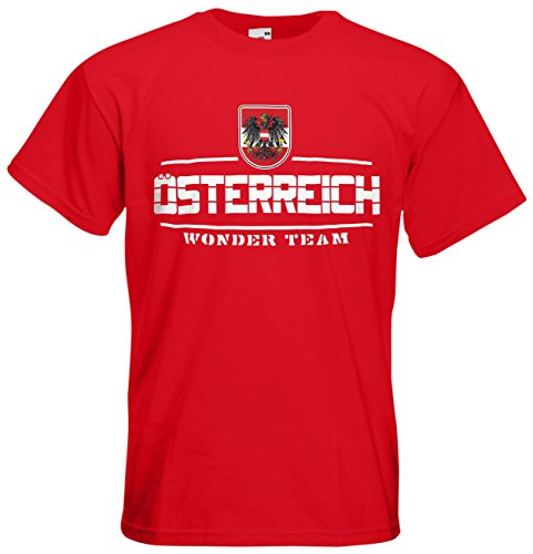Österreich Fanshirt T-Shirt Länder-Shirt im modernen Look Rot