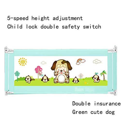 Belüftete Tür-sicherheit (Kinderbett Geländer, Absturzsicherung Bett Kinderbetreuung Schallwand Sicherheit tragbare Schutzhülle Stoßstange Babybettwäsche,Doppelter Stil)