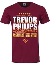 Trevor Philips Enterprises Mens Burgundy T-Shirt