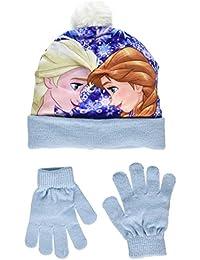 Disney Frozen Anna Vs Elsa, Set de Bufanda, Gorro y Guantes para Niñas