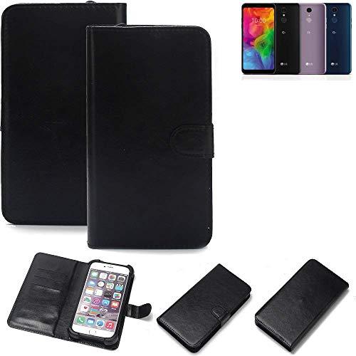 K-S-Trade 360° Wallet Case Handyhülle für LG Electronics Q7 Alfa Schutz Hülle Smartphone Flip Cover Flipstyle Tasche Schutzhülle Flipcover Slim Bumper schwarz, 1x
