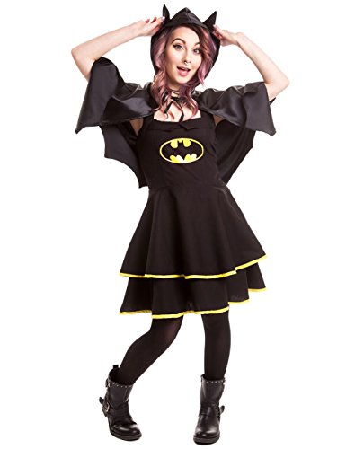 DC Comics Kleid BATMAN CAPE DRESS Schwarz XL (Dc Comics Kleid)