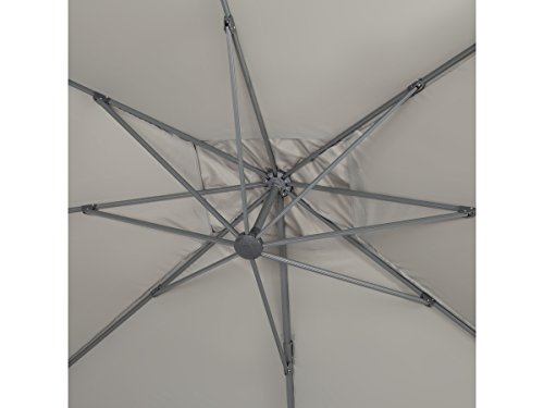 Habitat et jardin ombrellone decentrato in alluminio sun 4