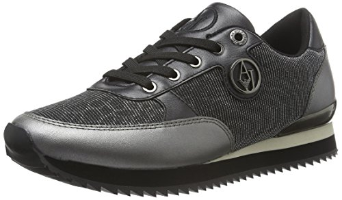 Armani Jeans 9250146a508, Chaussures de Running Compétition femme Silber (ARGENTO 00017)