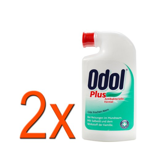 2 x Odol Mundwasser Plus Antibakterielle Formel 75ml