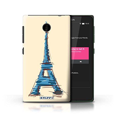 Kobalt® Imprimé Etui / Coque pour Nokia X / Taj Mahal/Indie conception / Série Monuments Tour Eiffel / Paris