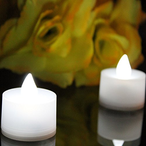 12 color blanco recargable parpadeo LED té luz velas con baterías de repuesto por PK Green