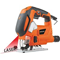 ‏‪800W Jig Saw with LED Laser Light and Quick Blade Change Jig Saw VPJS1030‬‏