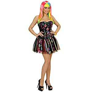 WIDMANN 49027?Adultos Disfraz Neon Rainbow Fantasy Girl, corsé y tutú