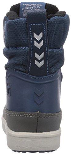 hummel SNOW BOOT JR LACE Unisex-Kinder Warm gefütterte Schneestiefel Blau (Dark Denim 7642)