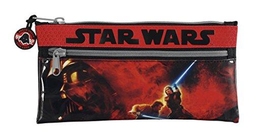 Star Wars – Portatodo con Dos Cremalleras, 22 x 11 cm (SAFTA 811401029)
