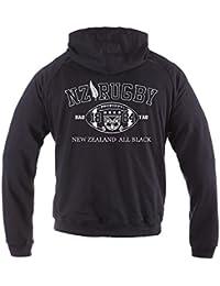 Dirty Ray Rugby New Zealand All Black Eté Demi-Saison homme sweat à capuche BL2