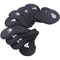Paquete de 10Golf Head Cover Club Hierro Putter cabeza Set de protección neopreno negro