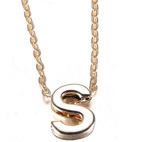 Stylish Gold Plated Alphabet Letter Pendants With Chain For Boys & Girls (S)