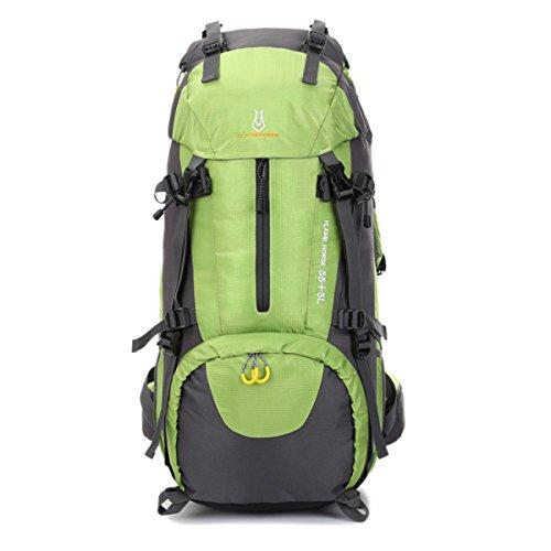 Outdoor Sport Bergsteigen Tasche Camping Rucksack Wasserdicht 60L Green