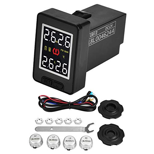 TPMS Reifendruck-Monitor, Keenso Auto Reifendruck-Monitor, System TPMS mit 4 externen Sensoren für To-yota Ma-zda Hon-da -
