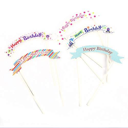 Vektenxi Premium 5pcs Alles Gute zum Geburtstag Cake Topper Party Cake Decoration