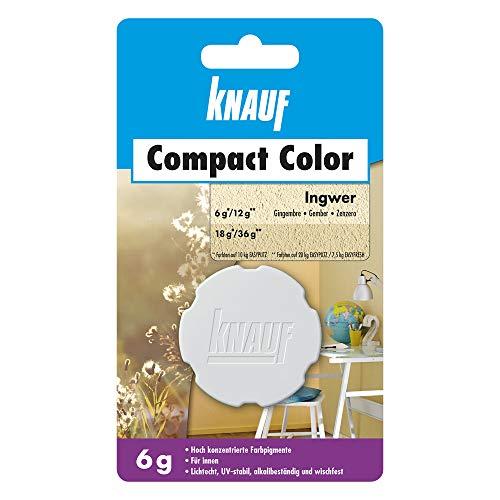 Knauf Compact Colors Farb-Pigmente - Pigment-Pulver zum Einfärben von Putz, nicht staubend, hoch konzentriert und wischfest, Ingwer, 6-g