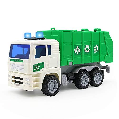 Camión de Basura Led Camion Juguete Vehiculos Obra Juguete Coches Luminoso y Sonidos per Niños 3 4 5