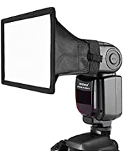 """Neewer Pro (Pro Version of Neewer Product) 8""""×12"""" (20cmX30cm) Universal Collapsible Square Studio Softbox Flash Diffuser for On Camera or Off Camera Flash Gun, for for Canon 430EX II, 580EX II, 600EX-RT, Nikon SB600 SB800 SB900,SB910, Neewer TT520, TT560, TT680, TT850, TT860, Youngnuo YN560, YN565, YN568, Vivita Flash, Sunpack, Sunpak, Nissin, Sigma, Sony, Pentax, Olympus, Panasonic Lumix Flashes with a Carrying Case"""