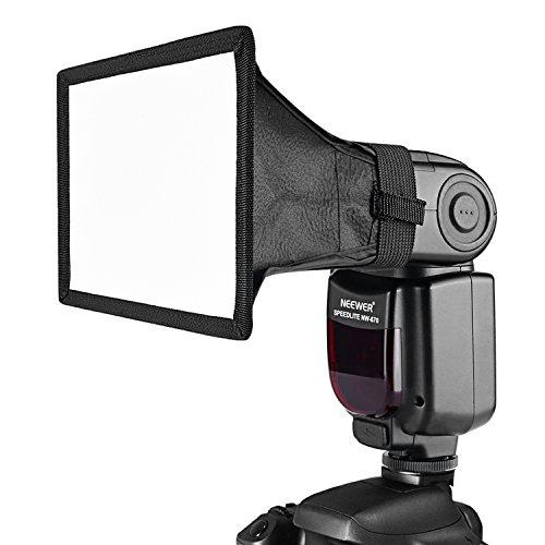 Neewer Pro Universal Faltbare Platz-Studio Softbox Blitz-Diffusor (20 cm (8 Zoll) x 30 cm (12 Zoll)) für Kamera/Blitzpistole mit Tragetasche