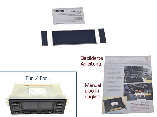 partworks Display für Klimabedienteil/Klimasteuerung/Klimabetätigung/Reparatur LCD inkl. Anleitung V2 07 Lcd