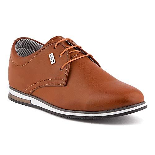 Fusskleidung Herren Business Casual Velours-Optik Schnür Halbschuhe Sneaker -