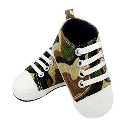 Babyschuhe Longra Baby Mädchen Jungen Lauflernschuhe Camouflage Sneaker Anti-Rutsch Soft Sole Kleinkind Segeltuch-Schuhe Krabbelschuhe (0 ~ 18 Monate) Camouflage