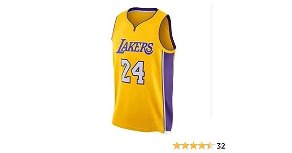 S-XXL QPY Kobe Bryant Los Angeles Lakers #24 Herren Basketball Trikot Wunschversion Bestickt Basketball Trikot Swingman Edition Unisex /Ärmelloses T-Shirt