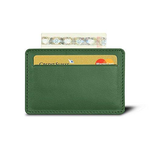 Lucrin Cognac Pelle Liscia Custodia per 2 carte di credito con tasca centrale
