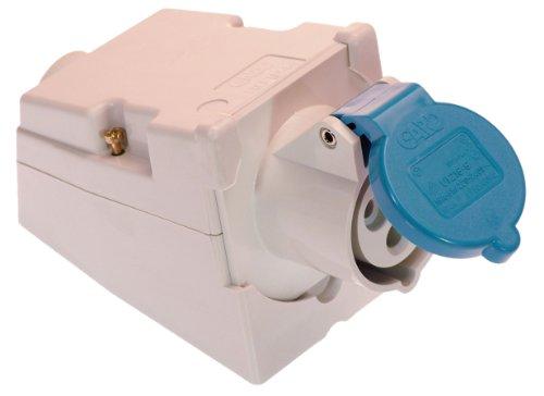 Preisvergleich Produktbild as - Schwabe 60472 CEE-Wanddose,  250V,  16A,  3polig,  6h,  IP44 Aussenbereich