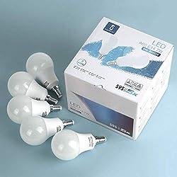 Leuchtmittel E14 LED Glühbirne Lampe 7W (entspricht 60W) Kaltweiß, Tropfen, 595 Lumen 6400K Abstrahlwinkel 280°, Birnen Cool White, 5 Verpack Karton Nicht Dimmbar