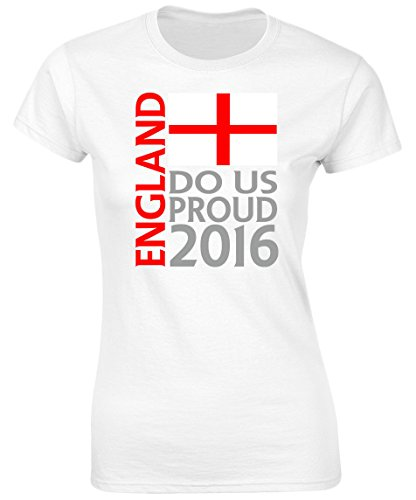 swagwear England Do Us Proud 2016 Womens Football Supporters T-Shirt 8 Colours (8-20)