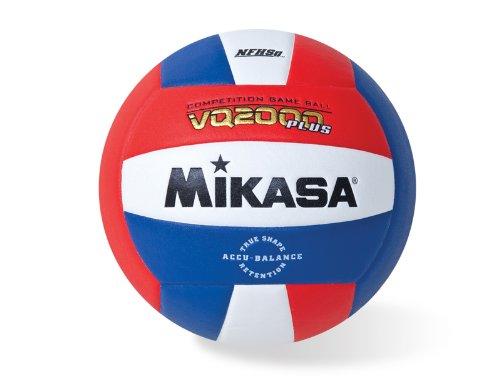 Mikasa Volleyball VQ2000 Micro Cell, Unisex, VQ2000-USA, rot/weiß/blau, Einheitsgröße