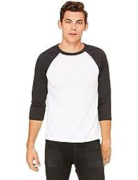 Bella Canvas 3200 3/4 Unisexe manches T-Shirt de Baseball