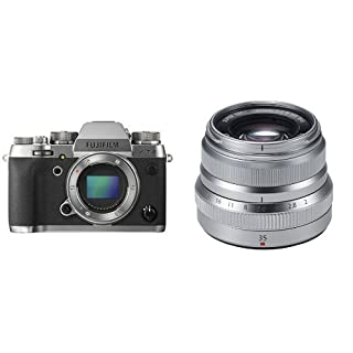 Fujifilm X-T2 - Cámara sin espejo de óptica intercambiable de 24,3 MP, grafito - solo el cuerpo + Fujifilm XF35mmF2 R WR - Objetivo, color plateado (B079LQMVPL) | Amazon price tracker / tracking, Amazon price history charts, Amazon price watches, Amazon price drop alerts