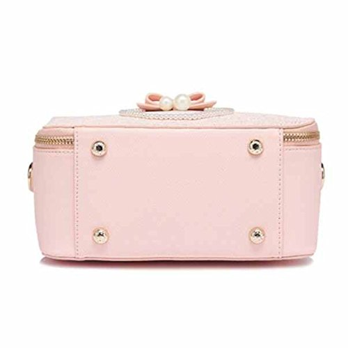 Handtasche Printing Schultertasche Pearl Small Square Paket,Pink Pink