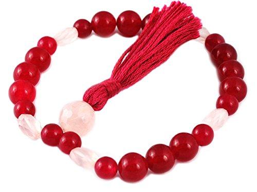 Mala 27 perles - Jade Violet & Quartz Rose