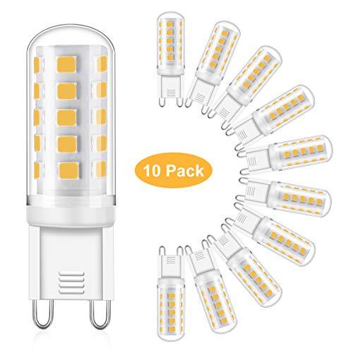 Eco.Luma G9 LED Lampe, 5W Ersatz 40W 50W Halogenlampen, Warmweiss 2700K 460LM LED Leuchtmittel Birnen, Kein Flackern, Nicht Dimmbar, AC 220-240V 10er Pack -