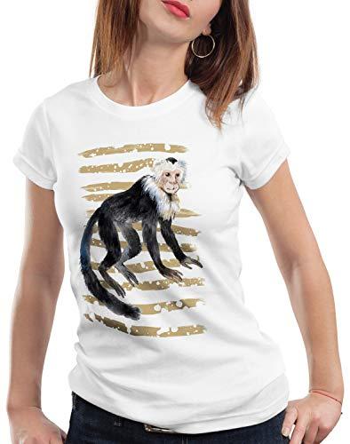 style3 AFFE Damen T-Shirt kapuziner Zoo Sommer, Größe:XS