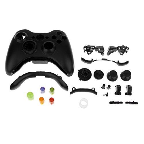 Full Housing Button Case Cover Hülle Mod Kit Ersatz für Xbox 360 Controller - Schwarz (Und Shell Xbox 360-controller)