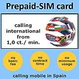 MYSIMCARD Spanish Prepaid-SIM card Spain incl. 5 EUR initial call credit