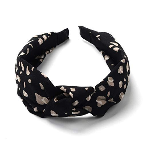 Leopard, Haarreife Damen Kopfband Haarband Perle Stirnband Make-up Dekoration 52-68 cm ()