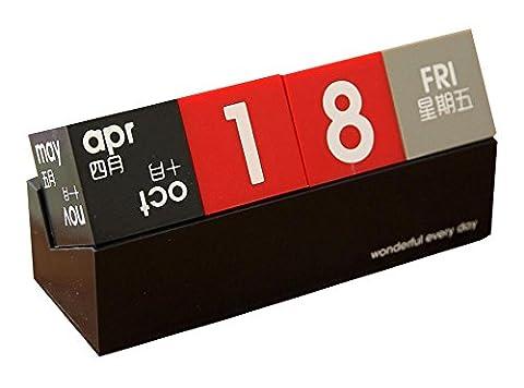Calendrier Personnalise - Bloc Perpetual Calendrier Noir Desk