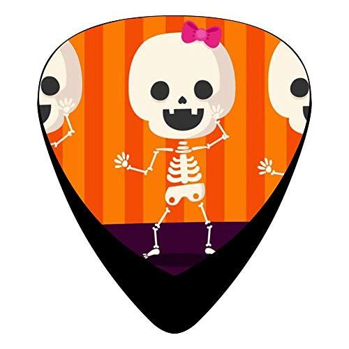 Halloween Pumpkin Skeleton Celluloid Electric Guitar Picks 12-pack Plectrums For Bass Music Tool
