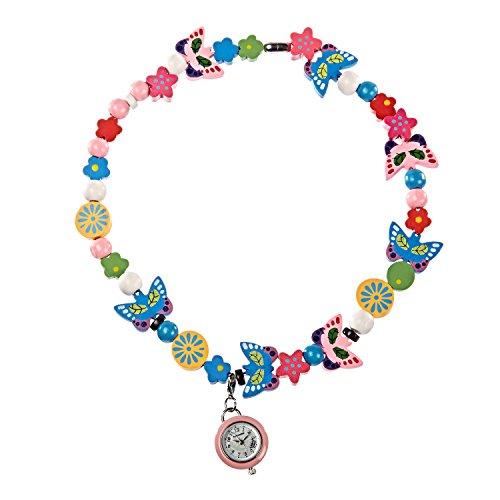 (Time Design Watch and Necklace Making Set Girls Children Kids Beads Jewellery)