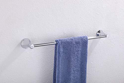 Handtuchhalter, Fomost Messing Wandmontage Bad Handtuchhalter und Küchenhandtuchhalter, poliert und Chrom, Badzubehör Einzelstange F928-01 (Handtuchhalter Poliert Messing)