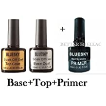 Bluesky Base y parte superior Soak Off UV Gel Nail Polish, imprimación